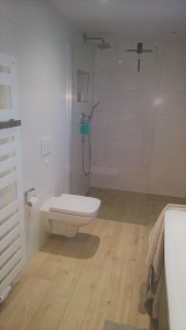 WC und Walk in Dusche